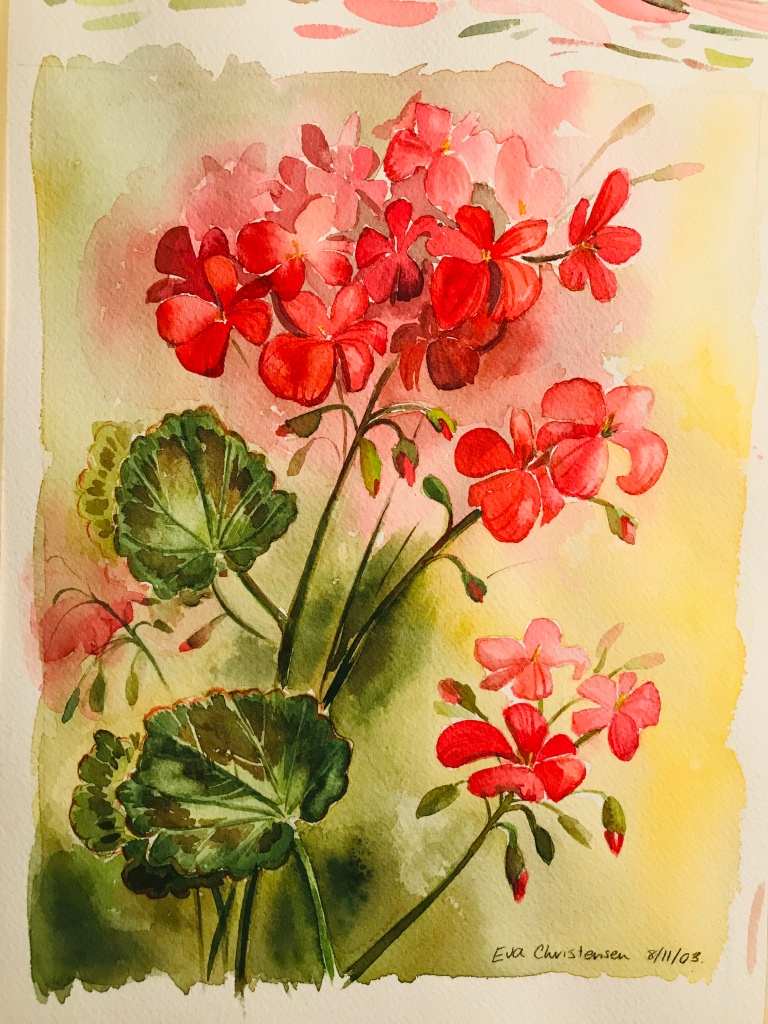 Watercolour painting on paper