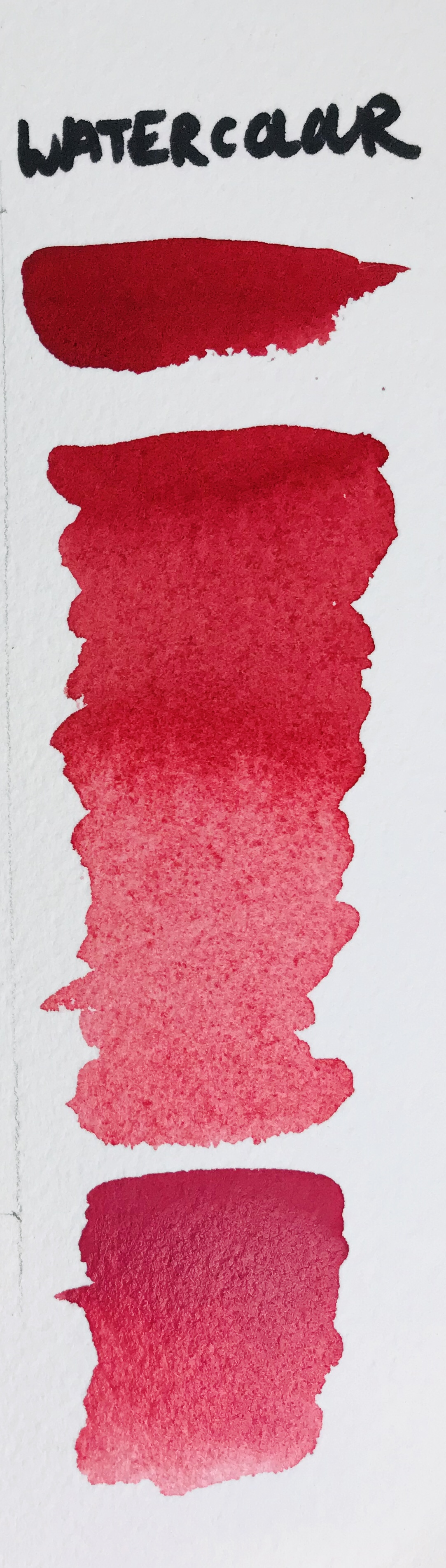 Watercolour paint swatch