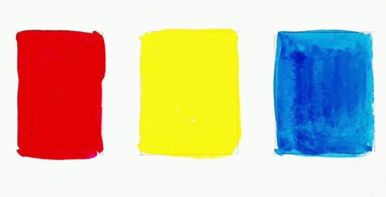 Red yellow and blue